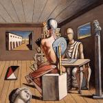 G.de Chirico,Il-poeta-e-il-pittore-1975-olio-su-tela, Fondaz.Giorgio e Isa de Chirico,Roma