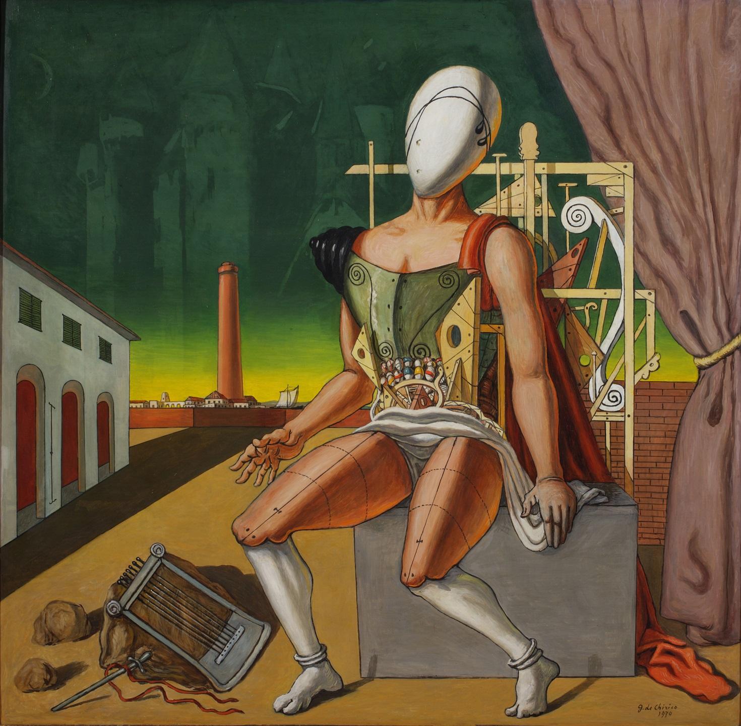 Giorgio de Chirico, Il trovatore stanco, 1970