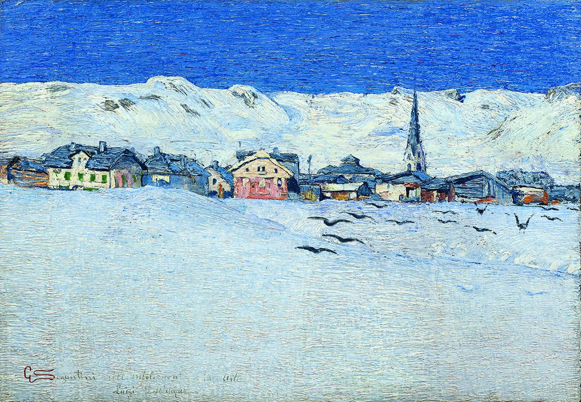 Giovanni Segantini, Savognino sotto la neve