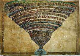 Sandro Botticelli, La voragine infernale, Punta d'argento e inchiostro su pergamena, 1480-1495