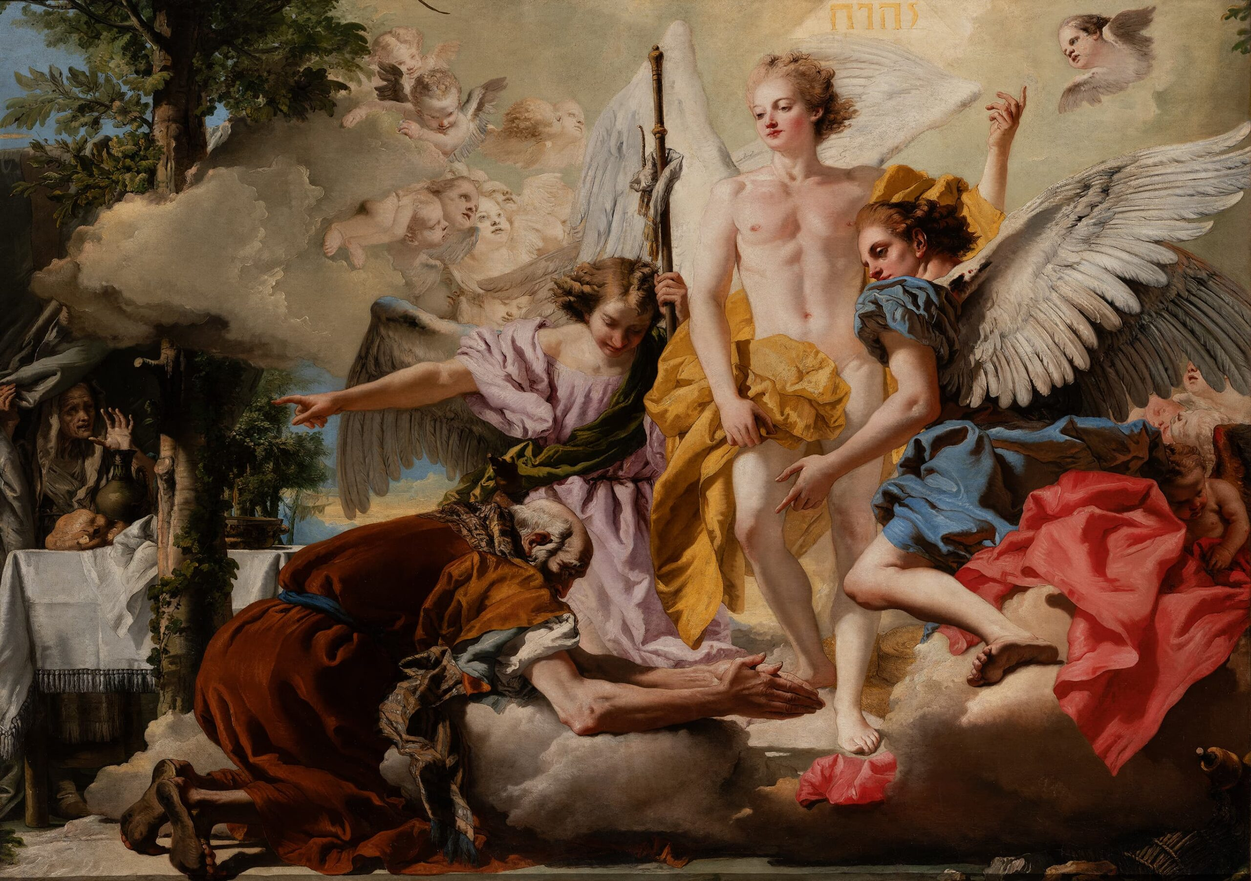 Tiepolo Abramo e i tre angeli – Gallerie d'Italia